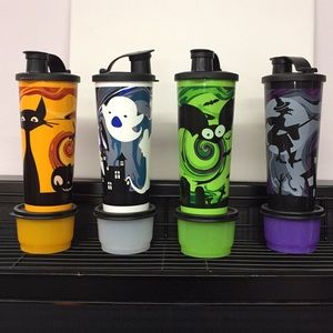 Other - Vintage Tupperware Halloween cup and container set